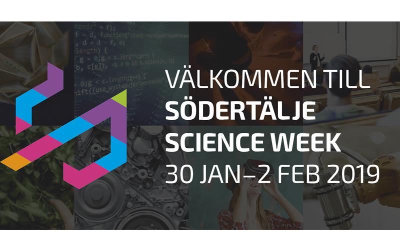 Banner om Södertälje Science Week 2019